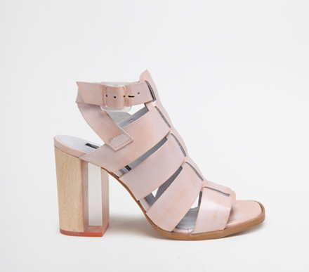 Miista Isabella style heeled sandals pink