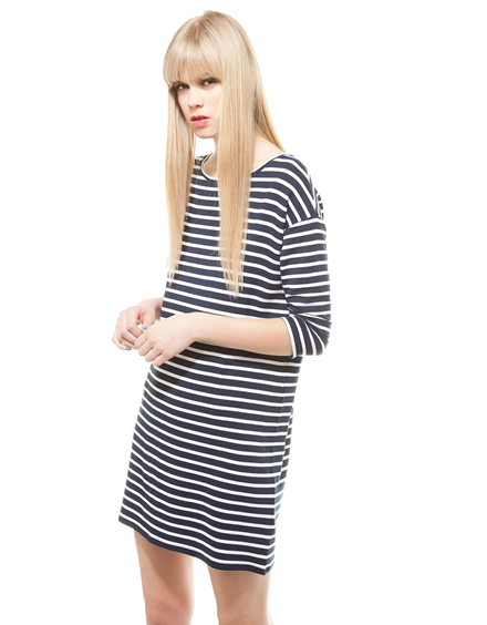 bershka back zip oversize dress