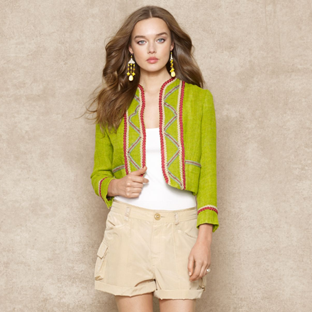 Ralph Lauren Embellished Linen Jacket