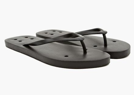 Rick Owens Men's Black Flip Flops