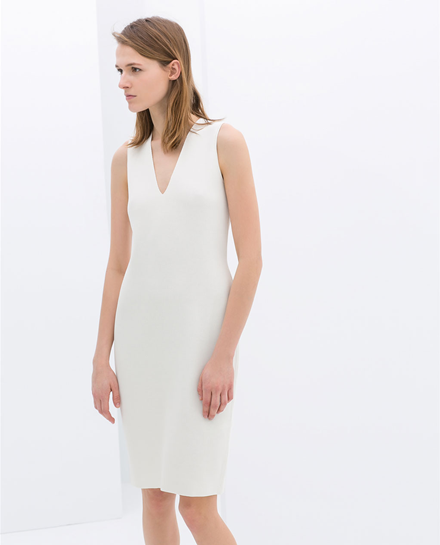 Zara Sleeveless Shift Dress
