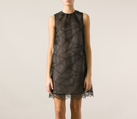 Christopher Kane perforated organza dress