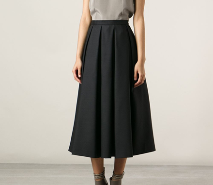 Dsquared2 pleated a-line skirt