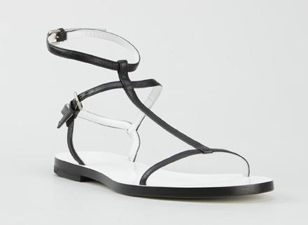 jil sander simple sandals