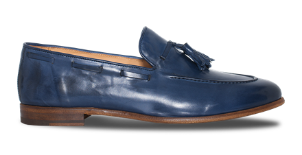 Paradigma Footwear Men's Navy Tassel Loafers