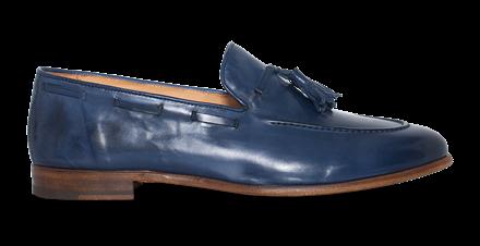 Paradigma Footwear Men's Navy Tassel Loafers
