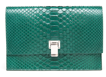 Proenza Schouler Small  Python Lunch Bag