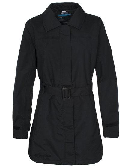 Jilly Women's Stylish Black Waterproof Coat from Trespass