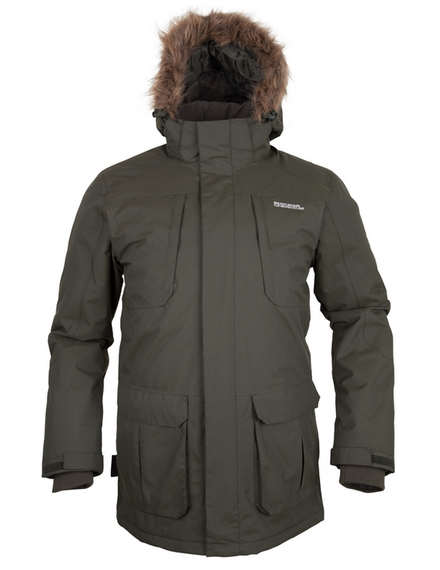 Canyon Men's Khaki Long Waterproof Jacket from Mountain Warehouse