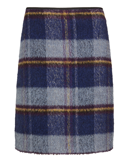 Blue Tartan Check Mini Skirt with Wool from M&S