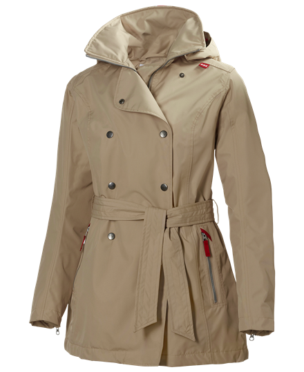 Women's Khaki W Welsey Trench from Helly Hansen